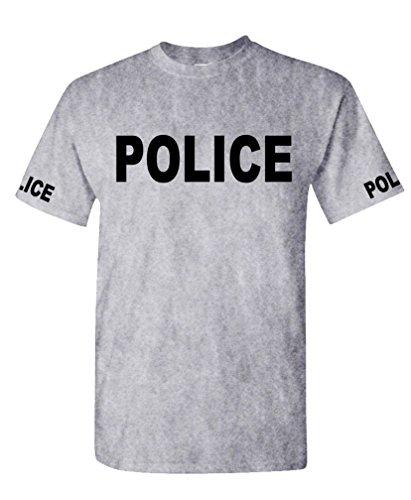 POLICE - novelty duty law enforcement - Mens Cotton T-Shirt, 2XL, Sport Gray