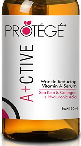 Premium Retinol Serum - ACTIVE - Best for Anti-Wrinkle with Sea Kelp, Astaxanthin, Hyaluronic Acid, Sodium PCA and Collagen for Women and Men (1oz)
