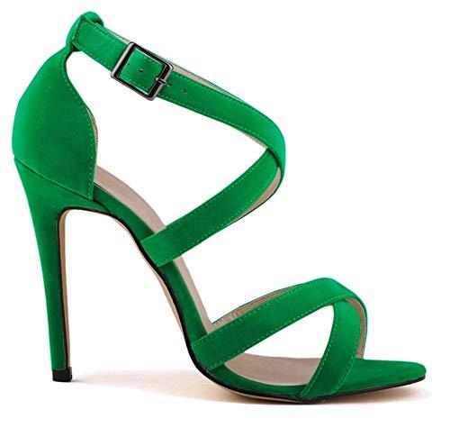 Caviglia Fangstosandals Ragazza' Strap Green Da Donna Alla wPEZqf