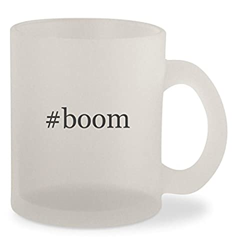 #boom - Hashtag Frosted 10oz Glass Coffee Cup Mug (Corrie Ten Boom Video)