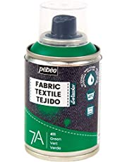Pébéo - Fabric Paint Spray for Textiles 7A Spray - Natural and synthetic fabrics - Water-based - Solvent-free - Spray Paint for textile design - 100ml - Green