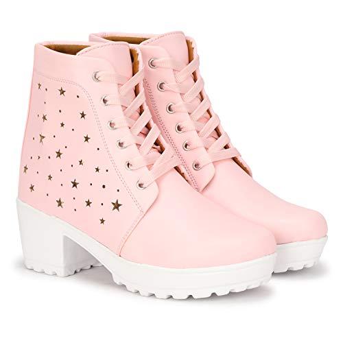 ZOVIM Women's High-Heels Boots for Girls