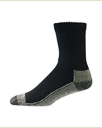 Aetrex Copper Non Binding (Aetrex Copper Sole Non-binding Socks 1 pair, Black,Large)
