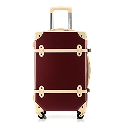 c493fee0b36 delicate Ambassador Luggage Antique Style 25 Inch Spinner - izunoumi.com