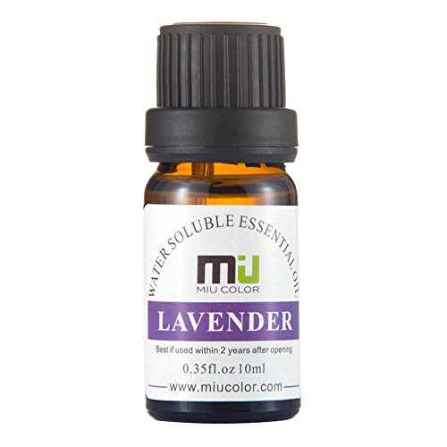 Lavender Aromatherapy Essential Oils - 100% Pure Water Soluble and Therapeutic Grade by MIU COLOR, 10ml