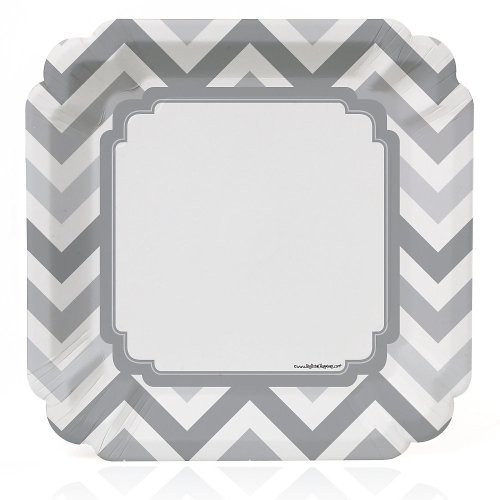 Chevron Gray Dinner Plates count