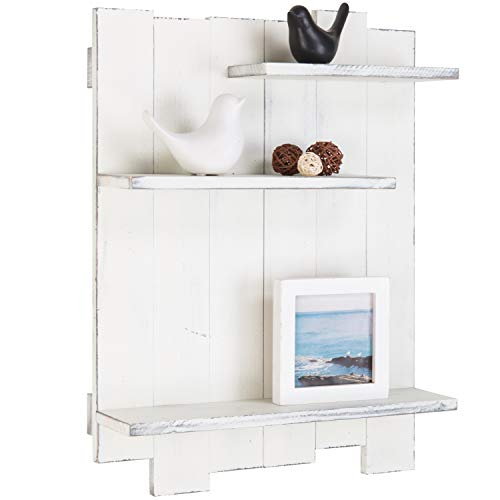 Wall-Mounted Whitewashed Wood Pallet Style