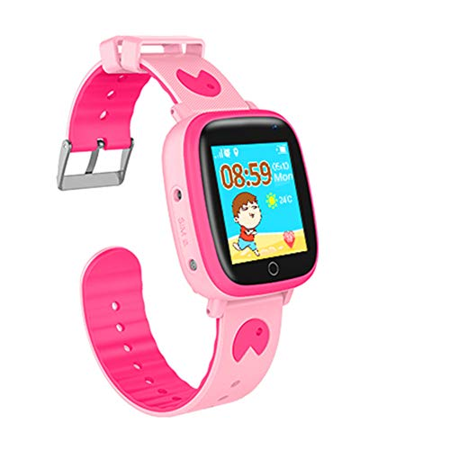 Kids Smart Watches with GPS Tracker Phone Call for Boys Girls Digital Wrist Watch, Sport Smart Watch Touch Screen Cellphone with Camera Anti-Lost SOS Learning Toy for Kids Gift (Pink)