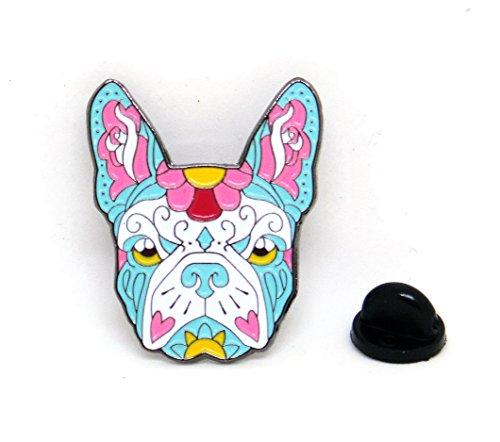 french-bulldog-sugar-skull-tattoo-dog-lover-polished-enamel-lapel-pin