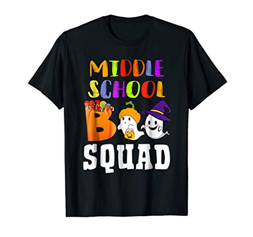 Middle School Boo Squad Halloween Ghost Shirt Gift Ideas