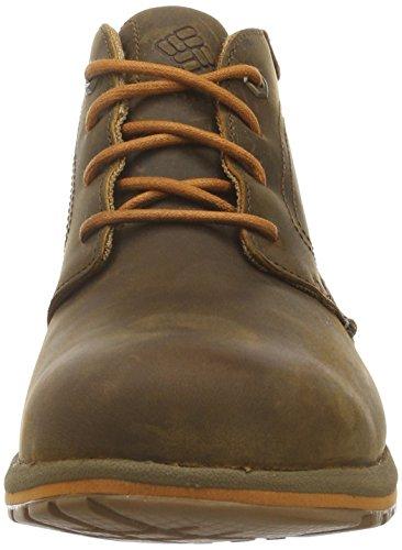 Columbia Davenport Chukka Waterproof Leather, Scarpe Oxford Uomo Marrone (Elk, Bright Copper 286elk, Bright Copper 286)