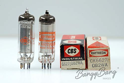 2 Vintage Mix 6627/0B2WA Gas Filled Cold Cathode Voltage Regulator Valve- BangyBang ()
