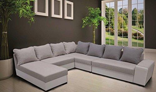 Fusion Sofa Couch Mit Bettfunktion U Form Wohnlandschaft Ecksofa