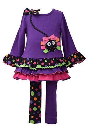 Bonnie Jean Baby Girl's Purple Spider Halloween Legging Set (5)]()