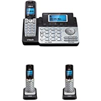 Vtech DS6151 DECT6.0 2-Line Cordless Phone System with 2 DS6101 Cordless Handsets, Caller ID, Answering Machine