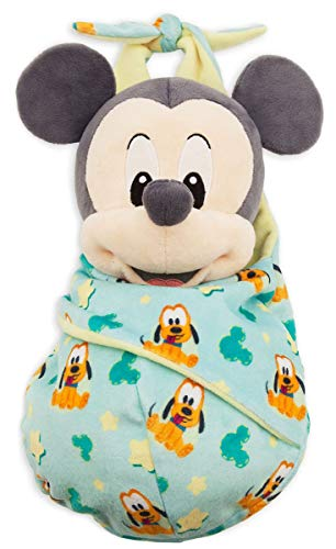 Disney Parks Baby Mickey Mouse in a Pouch Blanket Plush Doll ()