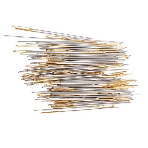 - 100pcs/Box Large Eye Embroidery Fabric Cross Stitch Needles Sewing Craft 24#