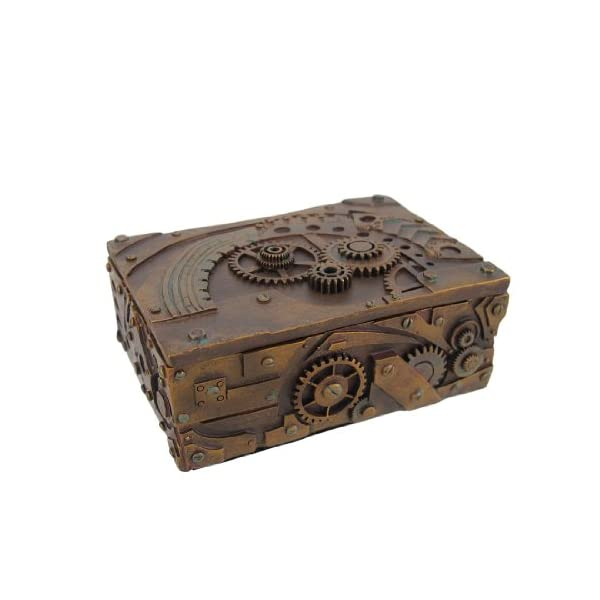 PTC 5 Inch Steampunk Mechanical Inspired Jewelry/Trinket Box Figurine 3