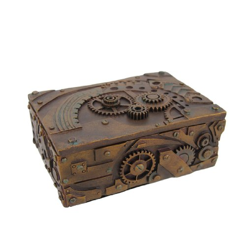 5-Inch-Steampunk-Mechanical-Inspired-JewelryTrinket-Box-Figurine-by-PTC