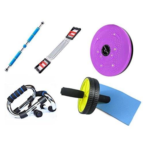 YHKQS-KQS Rouleau abdominale / Torsion de la taille / Barre horizontale / Barre de poitrine / push up Équipement de fitness Combinaison multifonctionnelle