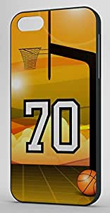 Basketball Sports Fan Player Number 70 Black Rubber Decorative iphone 4s Case