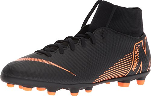 Nike Adult Mercurial Superfly 6 Club MG Multi Firm Ground Soccer Cleats for Men/Women ( Black/Orange / M6.5W8 ) ()