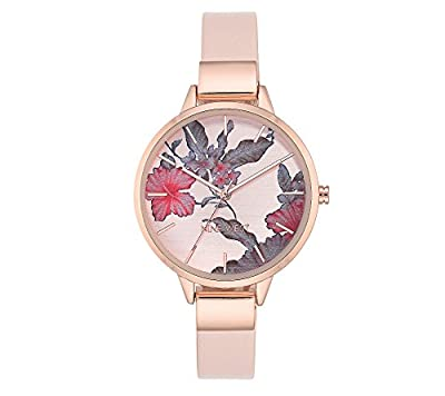 Nine West Floral Rose Goldtone Watch from Nine West