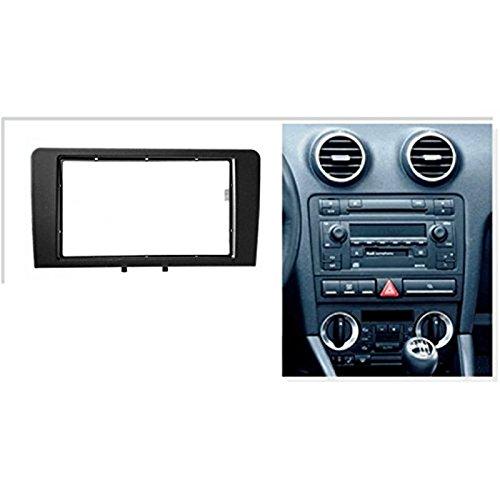sound-way Kit Montage autoradio fa/çade Cadre Radio 2 din Audi a3 2006-2010