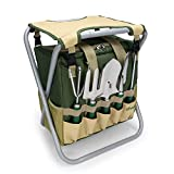 yodo 7 Piece Garden Tools Set for Men & Women - Heavy Duty Tote Bag and Stainless Steel Gardening Tools Includes Trowel Rake Cultivator Weeder, Great Gift for Gardeners