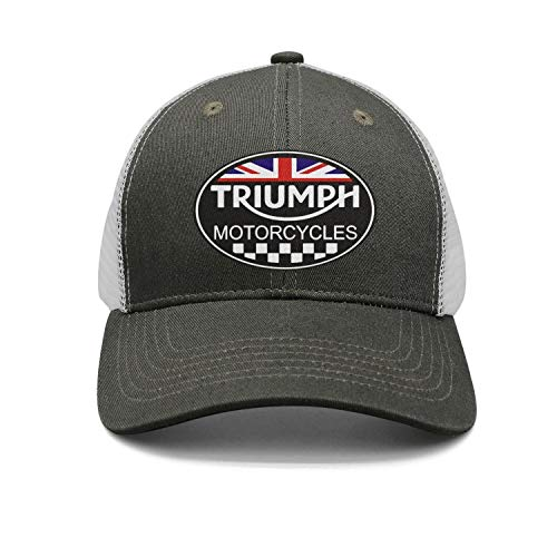 Unisex Men Triumph Motorcycles Logo Adjustable Baseball Dad Trucker Cap Hat