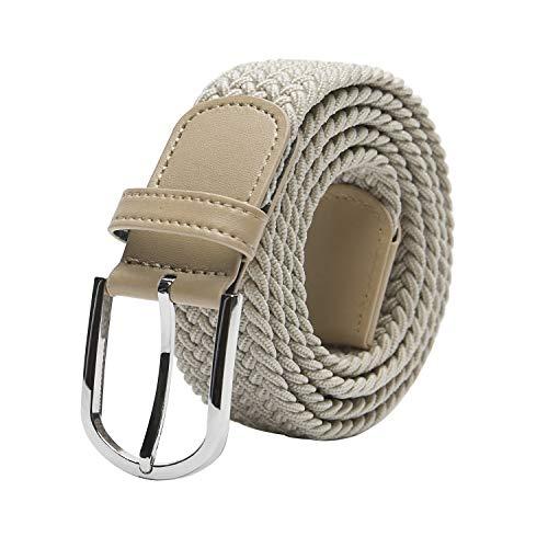 TANGCHAO Unisex Elastischer Stoffgürtel, Geflochtenen Stretchgürtel für Damen und Herren Breite 3.3cm