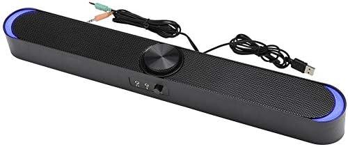 Barra de Sonido PC, Mini Altavoz computadora Cable portátil Barra de Sonido estéreo Cine en casa con tecnología DSP Altavoces Barra de Sonido para PC, Escritorio, Tablet, Smartphone, TV, etc.(Negro): Amazon.es: Electrónica