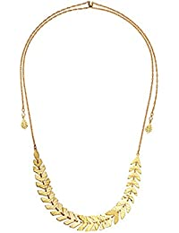 Womens Slider Necklace, Clear/Gold