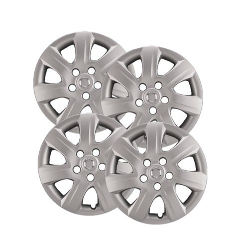 Hubcaps Com Premium Quality 16  Silver Hubcaps Wheel Covers Fits Toyota Camry  Heavy Duty Construction  Set Of 4
