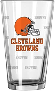 NFL Unisex Satin Etch Pint Glass Set (Pack of 2), 16-Ounce