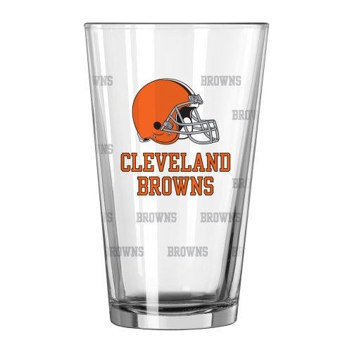 Boelter Brands NFL Cleveland Browns Satin Etch Pint, 16-ounce, 2-Pack
