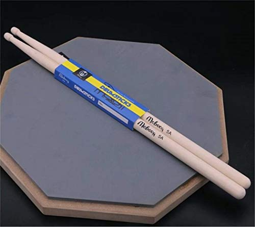 REGOU Drum Sticks 5A, 1 Pair Solid American Hickory Drumsticks,Beater Sticks,Comfortable, Well Weighted with Good Feel