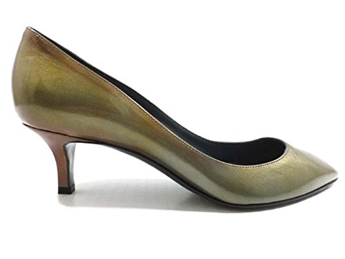 shoes-woman-sergio-rossi-8-us-38-eu-pumps-green-brown-patent-leather-ay601