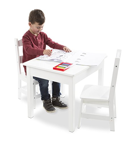 Melissa & Doug Wooden Table and Chairs Set - White