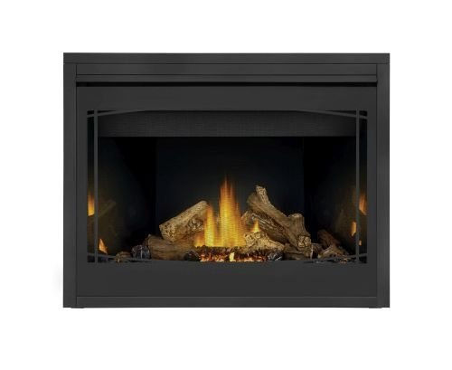 Napoleon B46 Ascent MV Fireplace w/Porcelain Panels & Zen Front - - Fireplace Napoleon Porcelain