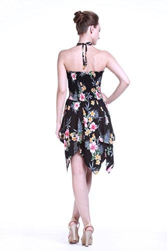 Vestido gitano Vestido hawaiano Vestido Luau Vestido de hada en Hibisco negro
