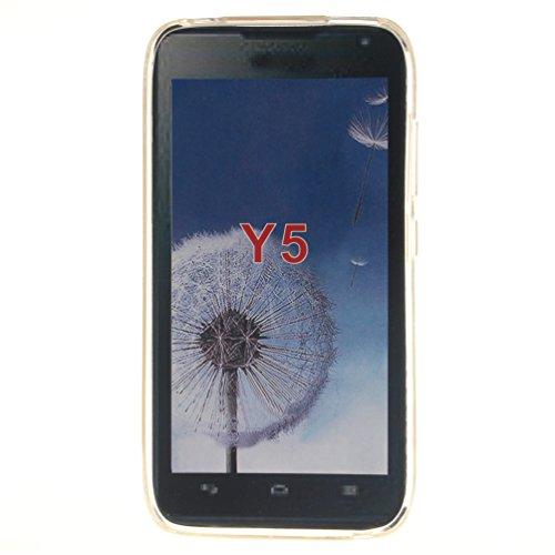 Huawei Y5 Hülle GeniusMALL Weiche TPU Silikon Gel Schutzhülle Farbe Drucken Muster Flexibel Schlank Tasche Schutz Zurück Schale Android iOS Windows Version Smartphone Handyhülle 2016 Ausgabe - Tiger