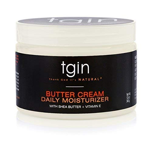 tgin Butter Cream Daily Moisturizer For Natural Hair - Dry Hair - Curly Hair, 12 oz (Best Moisturizer For Dry Natural Hair)