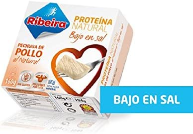 Ribeira Proteína Natural - Pollo bajo en sal - 1 lata 160gr ...