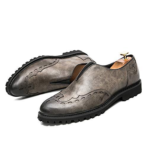 Oxford Grigio shoes casa classiche Grigio di compagnia camminare Brogue Jiuyue Pelle Scarpe comode Stampe 41 Scarpe 2018 e Per vivere EU moda Business Color uomo inglesi Uomo da Dimensione qSnXwdT