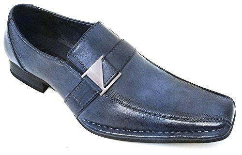 Loafers Styles Men's Slip Santoni Italian Shoes Alberto Blue Buckle Fellini on Casual Dress W1qZSHOywR