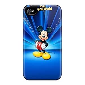 Perfect Hard Phone Cover For Iphone 6 With Customized Realistic Disney Mickey Mouse World Pattern LauraAdamicska