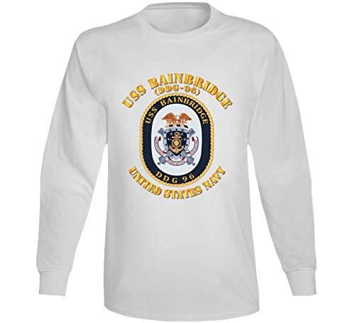 2XLARGE - Navy - Uss Bainbridge (ddg-96) Long Sleeve - White