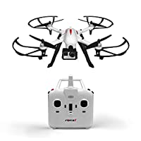 Force1 F100 Ghost GoPro Drone – Drone Camera w/ Brushless Motors & Long Flight Time – Hero 3 & Hero 4 Compatible Hero Drone Quadcopter
