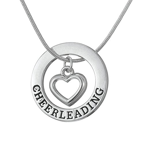 TEAMER Love Cheerleading Pendant Cheer Cheerleader Necklace Gifts Jewelry for Girls Teens -